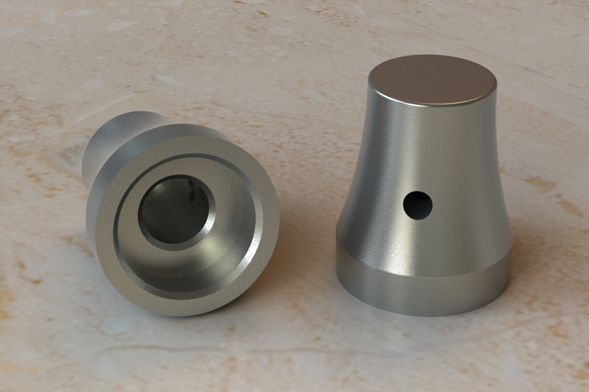 CAD Rendering of the Alloy Albs Waldorf Knob