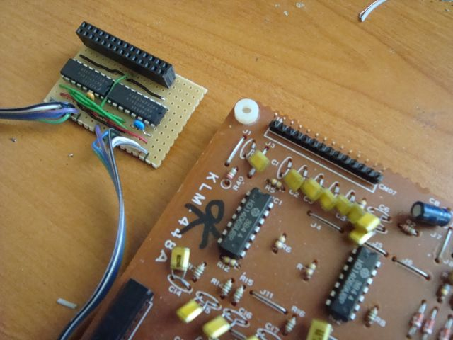 MB77 - KLM-448 triggers input Board and DOUT.