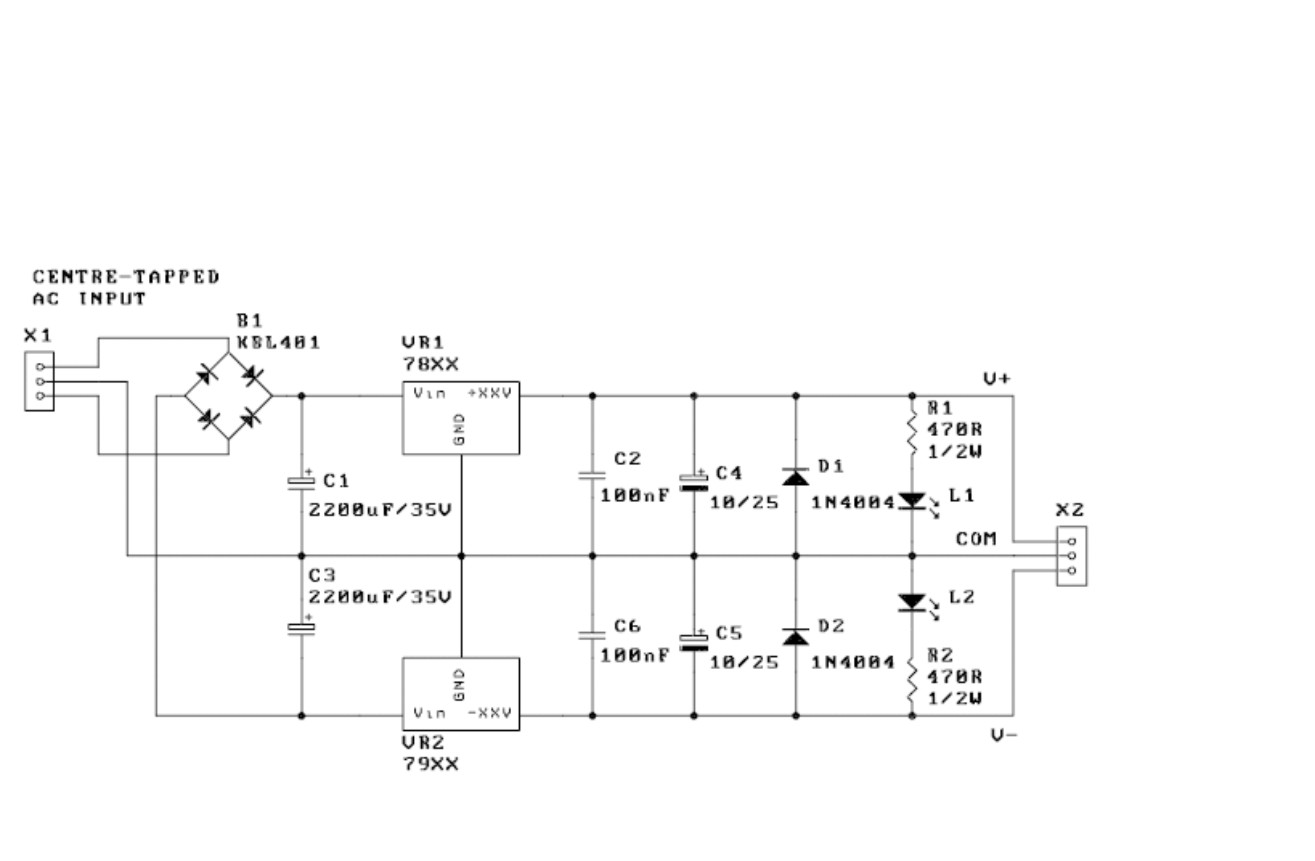 Mbfm Bipolar Power Supply Kit Midibox Fm Forum 12vdc Regulated With Schematic Diagram Share The This Post