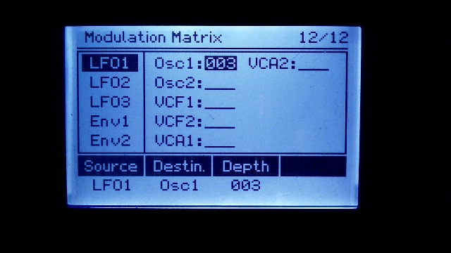 "Modulation-Matrix from AVR Synthesizer ""WAVE 1"""