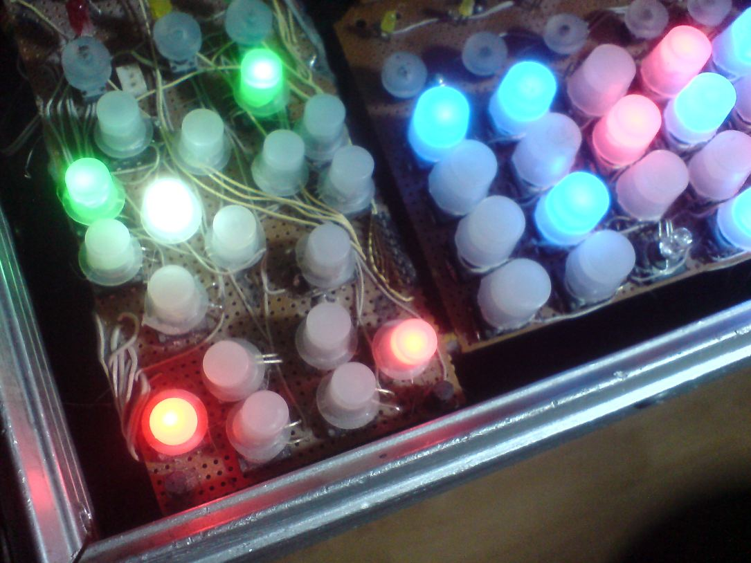 Selfmade illuminated Buttons
