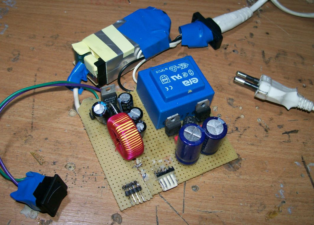 All in one +12/-12/+5V PSU for SID, FM and SEQ
