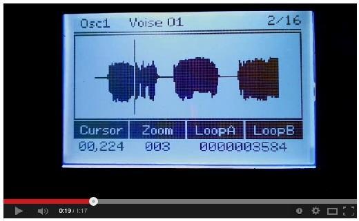 "WaveEditor in my DIY-Synth ""WAVE 1"""