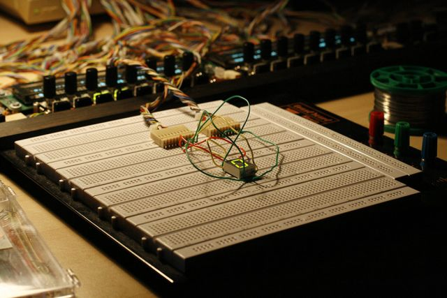 SEQ BPM LED digit on a breadboard :-)