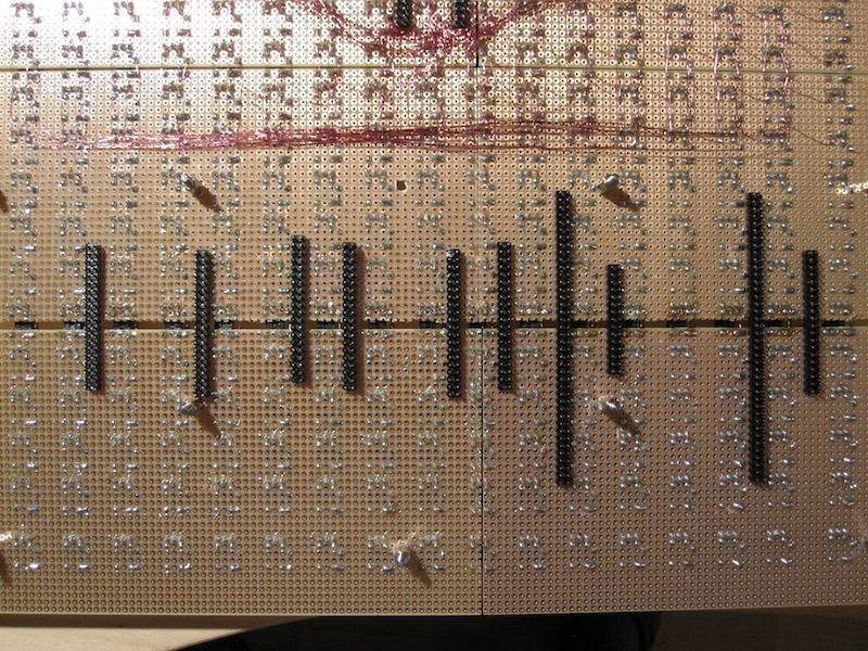 Usage of 2-row SIL headers to ensure the correct distance between boards