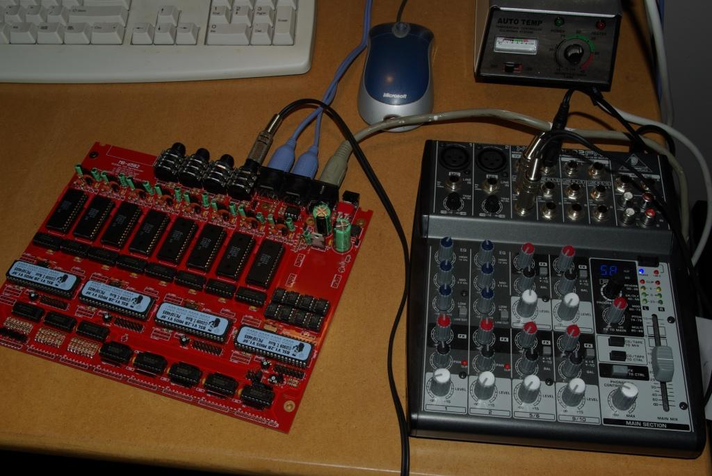 MB-6582 board and mixer - Expecting some soundz any minute!!!111