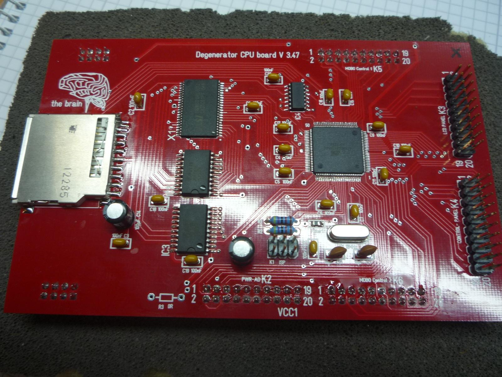 CPU PCB from DE:GENERATOR