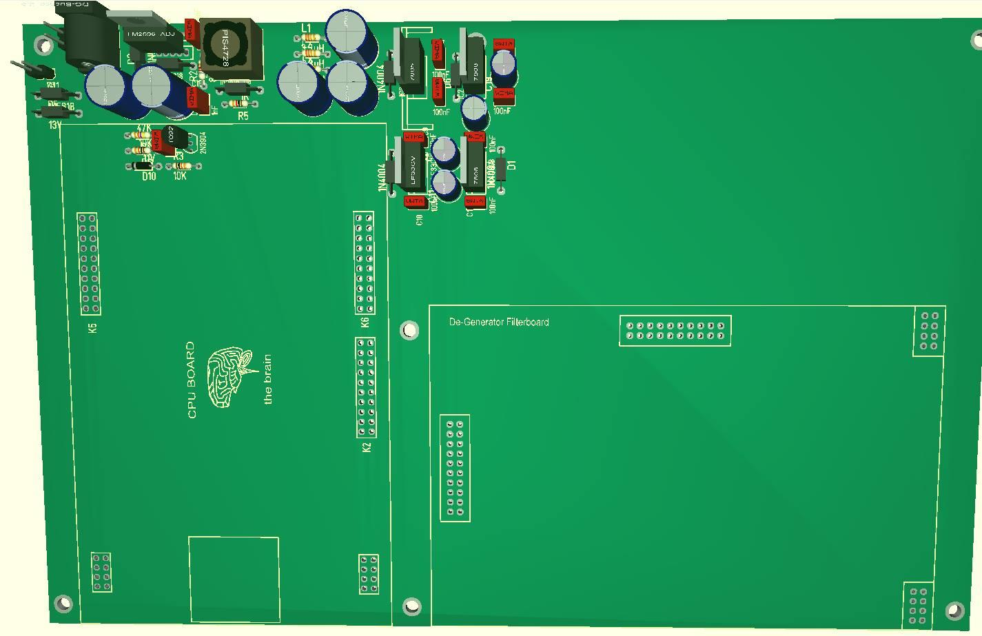 "Motherboard from DIY Synth ""DEGENERATOR"""