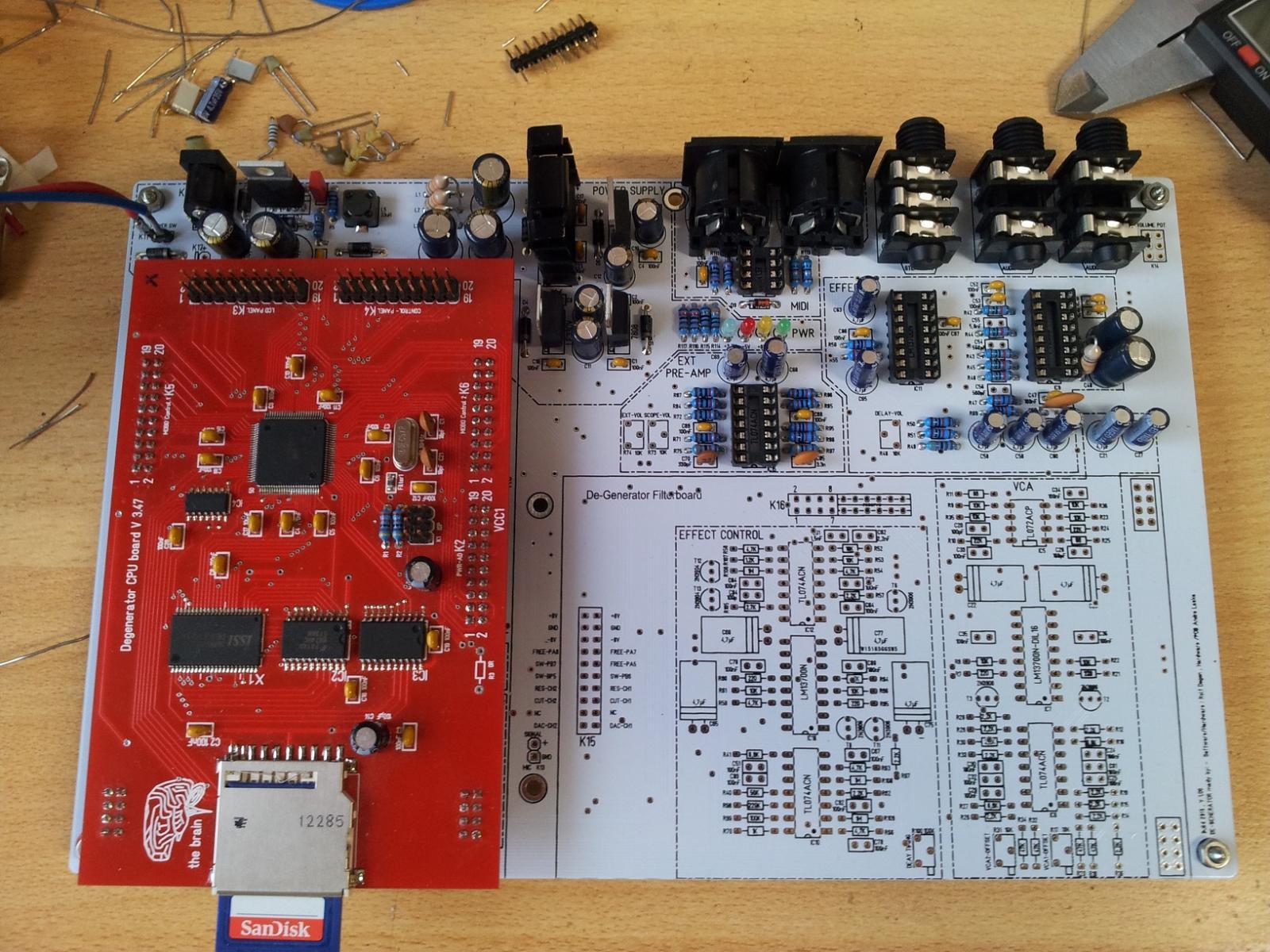 Degenerator Motherboard with CPU-Board