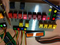 MB808  switch and led