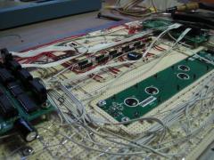 MIDIbox FM V2.0 Prototype - Front panel inside complete