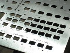 MIDIbox FM V2.0 Prototype: Front Panel Detail