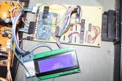 LPC Auf einem Veroboard mit LCD ausgang und Dio-Matrix