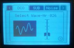 AVR-Synthesizer Wave select Menue